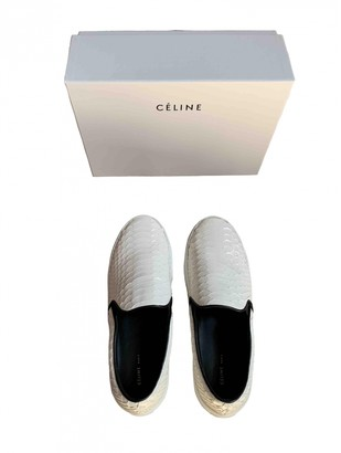 Celine Pull On White Python Trainers