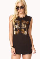 Forever 21 Fresh Leopard 85 Muscle Tee