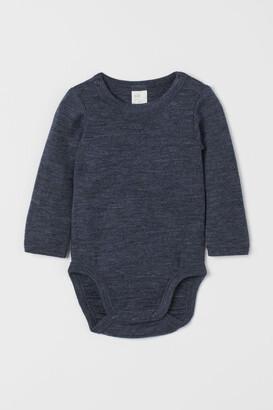 H&M Wool Bodysuit - Blue