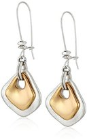 "Robert Lee Morris Soho ""Prisma"" Sculptural Double Long Drop Earrings"