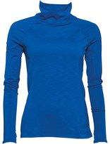 Under Armour Womens ColdGear Fitted Cozy Mock Neck Top Electric Blu