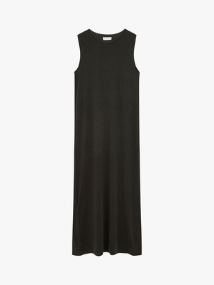 Warehouse Modal Column Midi Dress, Black