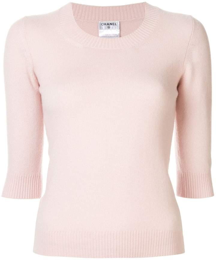 Chanel Pre-Owned knitted cashmere top