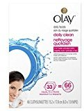 Olay Daily Clean 4-in-1 Water Activated Cleansing Cloths, 66 count