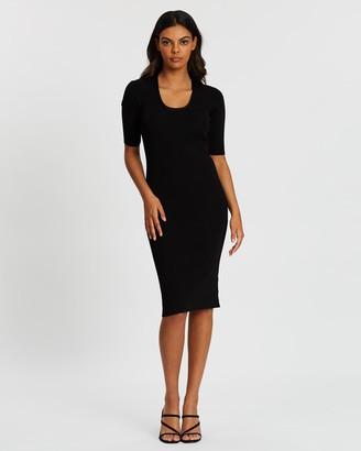 Forcast Luz Scoop Neck Knit Dress