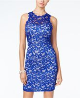 Sequin Hearts Juniors' Sequined Lace Bodycon Dress, A Macy's Exclusive Style