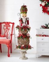 Classic Red & Green Nutcracker Topiary
