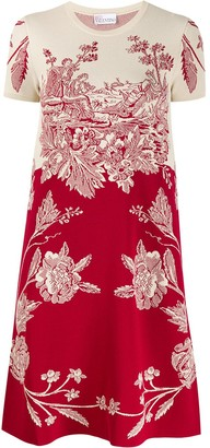 RED Valentino RED(V) floral print short dress