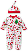 Offspring Dotted Footie and Beanie Set