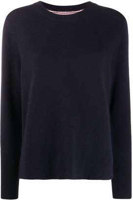 Chinti and Parker Contrast Ribbed-Knit Jumper