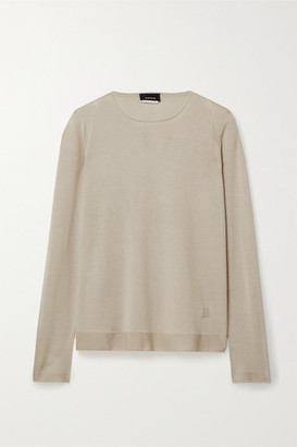 Akris Cashmere And Mulberry Silk-blend Sweater - Beige