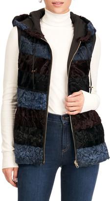 Gorski Reversible Horizontal Lamb Hooded Vest