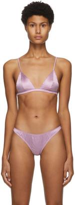 Fleur Du Mal Purple Silk Luxe Bra