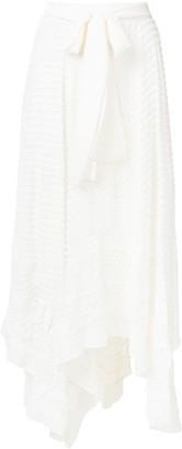 Zimmermann Embroidered Asymmetric Skirt