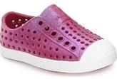 Native 'Jefferson' Iridescent Slip-On Sneaker (Baby, Walker, Toddler & Little Kid)