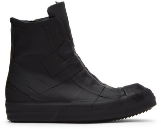 Rick Owens Black Rubber Performa High-Top Sneakers
