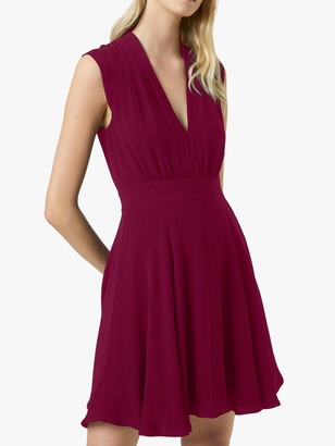 French Connection Carrabelle Crepe V-Neck Dress
