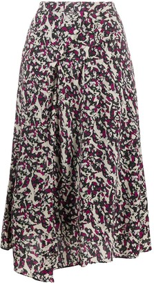 Isabel Marant Printed Silk Pleat Skirt