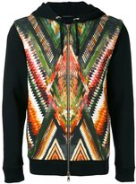 Balmain folkloric print hoodie - men - Cotton - S