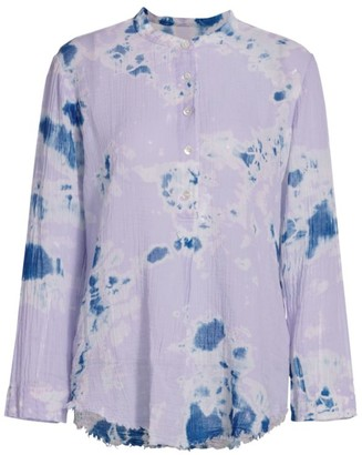 Raquel Allegra Perfect Henely Tie-Dye Shirt