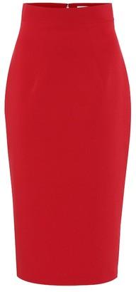 Safiyaa Hokoku stretch-crepe pencil skirt
