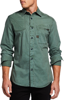G Star Men's Hunting Slim Sport Shirt w/ Zip Pocket