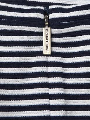 MICHAEL Michael Kors Stripe Flutter-Sleeve Flounce T-Shirt Dress