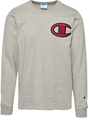 Champion Heritage Floss Stitich C Long Sleeve T-Shirt - Oxford Grey