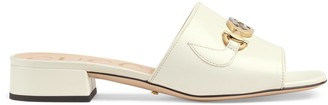 Gucci Zumi leather slide sandal
