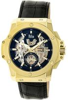 Reign Commodus REIRN4004 Men's Gold and Black Leather Automatic Watch