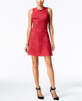 BCBGeneration Faux-Suede Fit & Flare Dress