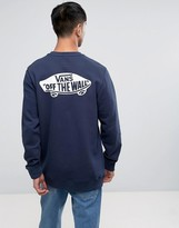 Vans Exposition Sweat With Back Print In Blue V0059dlkz