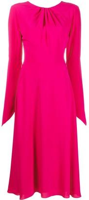 Victoria Beckham Gathered Cutout Midi Dress