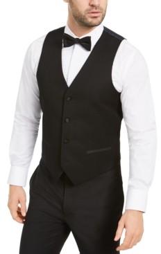 Alfani Men's Slim-Fit Stretch Black Tuxedo Vest, Created for Macy's
