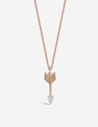 THE ALKEMISTRY Kismet by Mika Arrow diamond and 14ct rose-gold necklace