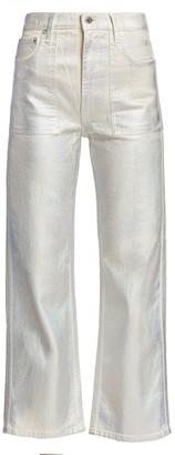 Helmut Lang Factory Metallic Wide-Leg Jeans