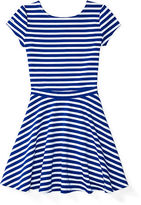 Ralph Lauren 7-16 Striped Ponte Top & Skirt Set