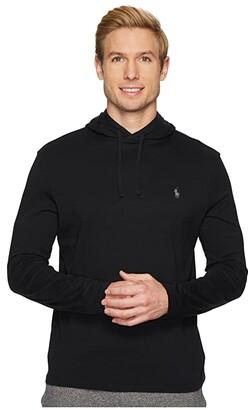 Polo Ralph Lauren Hooded Jersey Tee (Polo Black) Men's T Shirt