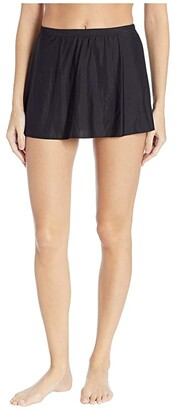 Miraclesuit Solid 19 Skirted Bottom (Black) Women's Swimwear