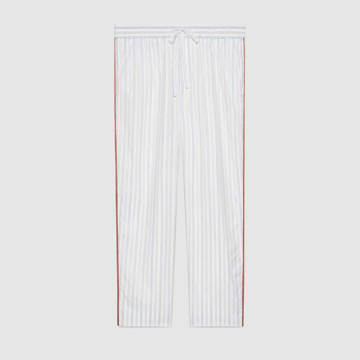 Gucci Striped cotton jogging pant