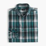 J.Crew Lightweight cotton shirt in green plaid