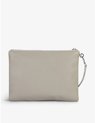 The White Company Wristlet leather clutch bag
