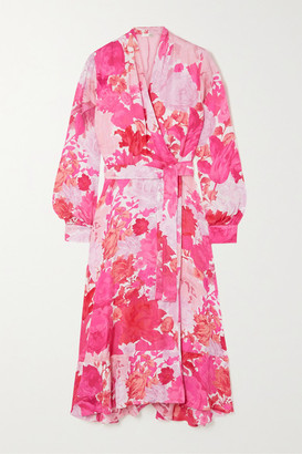 Stine Goya Reflection Floral-print Modal And Silk-blend Wrap Dress