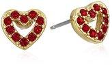 Kate Spade Love List 14K Gold-Tone-Plated Open Heart Stud Earrings