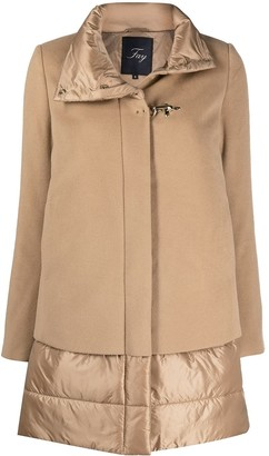Fay Layered Quilted Coat
