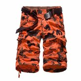 WINSON Men Camouflage Printed Military Army Shorts Overall Cargo Combat Short Pants