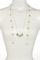Stephan & Co Spike End Beaded Layering Necklace