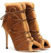 Gianvito Rossi Aspen suede peep-toe ankle boots