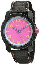Sprout Unisex ST/7011PKBK Pink Corn Resin Dial Black Cork Strap Watch