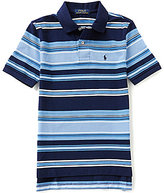 Ralph Lauren Big Boys 8-20 Striped Short-Sleeve Mesh Polo Shirt